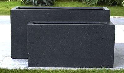 Premium Lightweight Terrazzo Narrow Oblong Planter 1000 x 230 x 400 H mm - Size 1