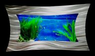 Stainless Steel Aquarium Wall Feature - Horizontal - 1130W x 650H mm