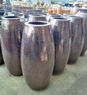 Glazed Rocket Pot 430 x 950 H mm - Size 3 - Sapphire