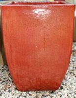 Glazed Milan Planter Size 3 - 430 x 620mm - Copper Red