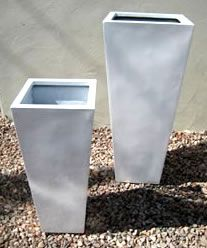 Lightweight Tall Square Taper Planters - UV Stabilised for Outdoor Planting