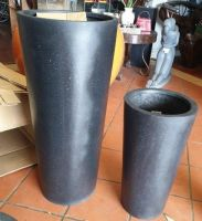 Premium Lightweight Terrazzo Tall Round Taper Planter - 2 sizes