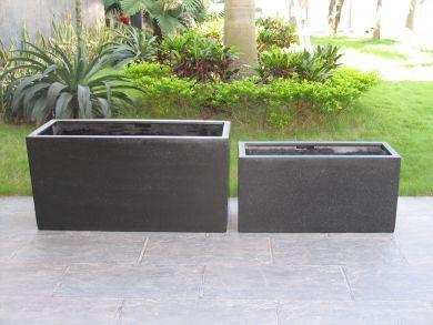 1 metre Rectangle (Oblong) Planter in Premium Lightweight Terrazzo (Size 3) 1000 x 400 x 500H mm