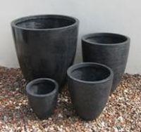 Lightweight Terrazzo Tall Round Planter - 4 Sizes