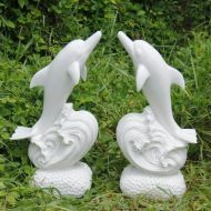 Small Dolphin - Pair Statue