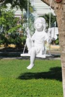 Fairy on a  Swing - L Statue