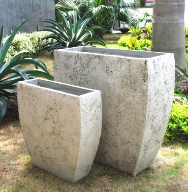 Lightweight Planters Natural Stone Finish Wholesale