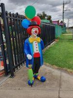 Clown- fiberglass lightweight life size