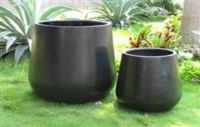 Premium Lightweight TERRAZZO-Round Squat Pot-