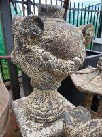 Ocean Rock- Rams Head Urn On Pedestal