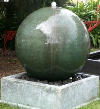 Grc Sphere Orb Fountain 80cm Diameter Copper Blue
